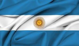 флаг аргентинки Аргентины Стоковые Фото