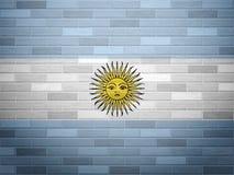 Флаг Аргентины кирпичной стены иллюстрация штока