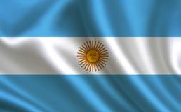 флаг Аргентины Часть серии Стоковые Изображения
