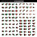 Флаг Афганистана, иллюстрация вектора Стоковое Изображение