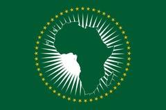 Флаг Африканского Союза Стоковые Изображения
