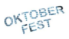 Флаг Баварии Oktoberfest с надписью oktoberfest видеоматериал