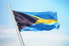 флаг Багам Стоковые Изображения