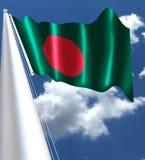 Флаг Бангладеша был принят 17-ого января 1972 и очень подобен к японскому флагу стоковые фотографии rf