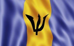 флаг Барбадосских островов Стоковые Изображения