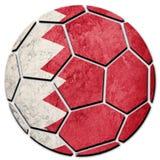 Флаг Бахрейна футбольного мяча национальный Шарик футбола Бахрейна Стоковое фото RF
