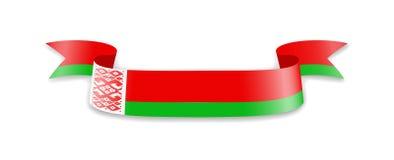 Флаг Беларуси в форме ленты волны Стоковые Фото