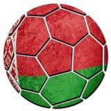 Флаг Беларуси футбольного мяча национальный Белорусский шарик футбола Стоковая Фотография RF