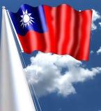 Флаг больше не используемого на материке Китая после того как ` s Республика людей было основано в 1949 Как острова Тайваня Стоковое Фото