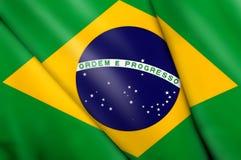 флаг Бразилии Стоковое Изображение RF