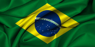 флаг бразильянина Бразилии Стоковая Фотография