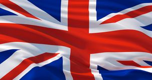 Флаг Британии на шелке, иллюстрации 3d бесплатная иллюстрация
