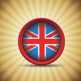 Флаг Британии ретро Стоковые Фото