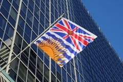 Флаг Британского Колумбии захолустный Стоковые Изображения RF