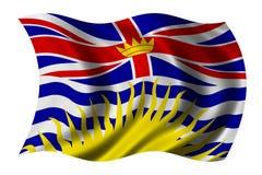 флаг Британского Колумбии Стоковые Изображения RF