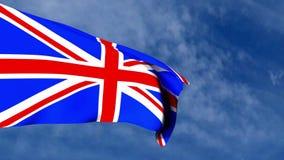Флаг британцев в небе иллюстрация вектора