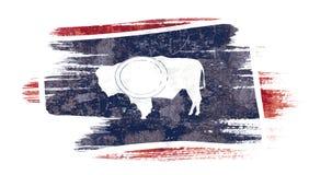 Флаг Вайоминга Стоковые Изображения RF