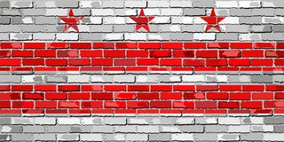 Флаг Вашингтона, d C На кирпичной стене Стоковые Изображения