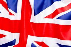 Флаг Великобритании порхает в ветре Место, который нужно разрекламировать, шаблон Стоковые Изображения