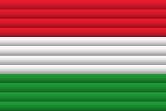 Флаг Венгрии также вектор иллюстрации притяжки corel бесплатная иллюстрация