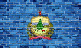 Флаг Вермонта на кирпичной стене Стоковая Фотография RF
