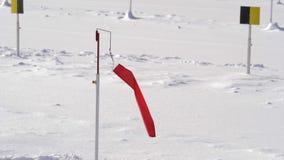 Флаг ветра биатлона двигает движение медленное акции видеоматериалы