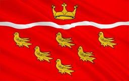Флаг восточного Сассекс графство, Англия иллюстрация штока