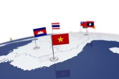 Флаг Вьетнама Стоковая Фотография RF