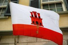 Флаг в Гибралтаре стоковое изображение
