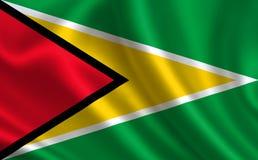 флаг Гайана Часть серии Стоковые Фотографии RF