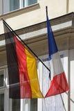 Флаг Германии и Франции стоковое изображение