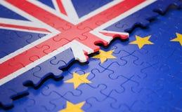 Флаг головоломки Европейского союза Великобритании стоковое изображение rf