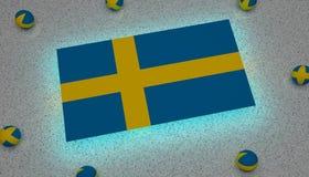 Флаг голубая желтая Европа Швеции иллюстрация штока