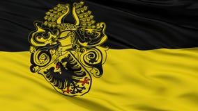 Флаг города Нордхаусена, Германия, взгляд крупного плана Иллюстрация вектора