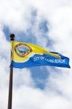 флаг города пляжа длиной Стоковая Фотография