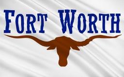 Флаг города Fort Worth в Техасе, США Стоковое Изображение RF