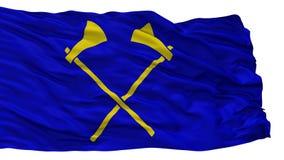 Флаг города Helier Святого, Джерси, изолированный на белой предпосылке бесплатная иллюстрация