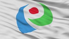 Флаг города Iwata, Япония, префектура Shizuoka, взгляд крупного плана стоковые изображения