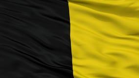 Флаг города Jodoigne, Бельгия, взгляд крупного плана Иллюстрация штока