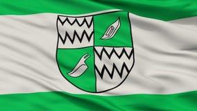 Флаг города Rhede, Германия, взгляд крупного плана Иллюстрация вектора
