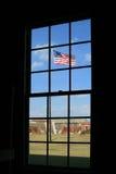 Флаг гражданской войны год сбора винограда Стоковые Изображения RF