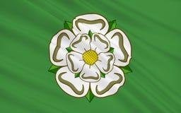 Флаг графства северного Йоркшира, Англии иллюстрация вектора