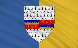 Флаг графства Tipperary графство в Ирландии иллюстрация вектора