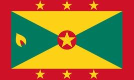 Флаг Гренады в национальных цветах,