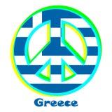 Флаг Греции как знак пацифизма иллюстрация вектора