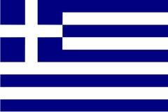 флаг Греция Стоковое Изображение RF