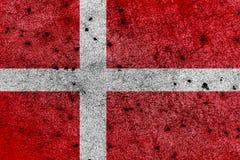 Флаг Дании с правильными геометрическими пропорциями, specificatio Стоковые Изображения