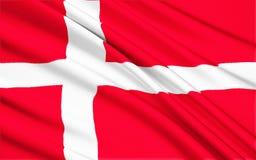 флаг Дании иллюстрация вектора