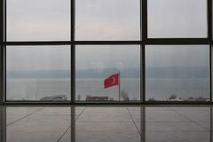 Флаг Дарданеллов стоковое фото rf