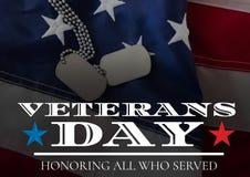Флаг дня ветеранов бесплатная иллюстрация
